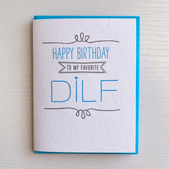 Favorite DILF Birthday Card