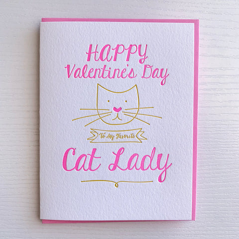 Cat Lady Valeninte's Day Card