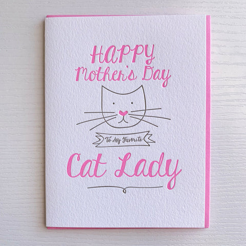 Cat Lady Mother's Day card for Cat Mom