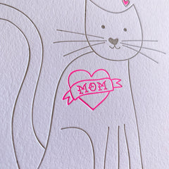 Mother's day card from cat Mom card