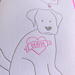 Mother's Day Card From The Dog Mom Card
