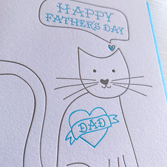 Father's Day Card for Cat Dad - Father's Day Card From Cat