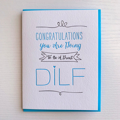 Pregnancy Reveal New Dad DILF Card