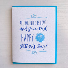 First Father's Day Card