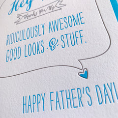 Good Looks & Stuff - Funny Father's Day Card