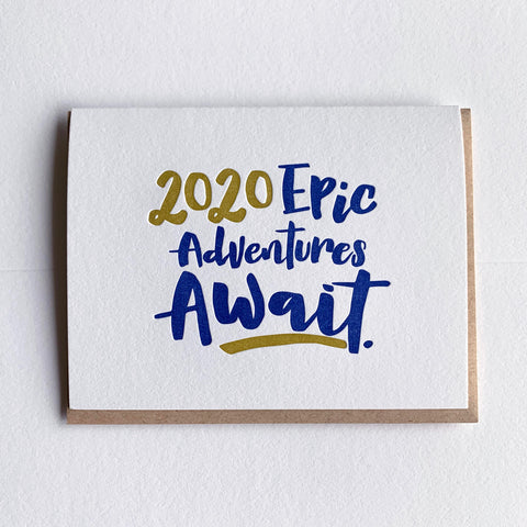 New Year Card - Epic Adventures Await