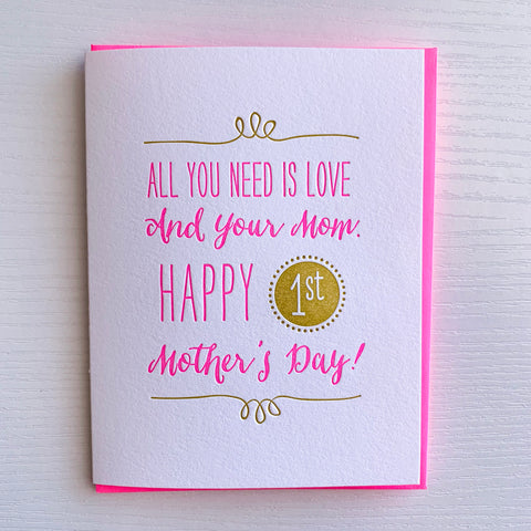 First Mother's Day Card