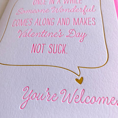 Sarcastic Valentine's Day Card
