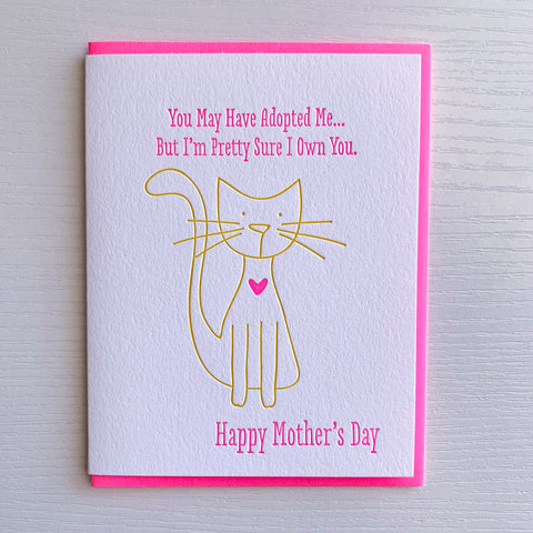 Mother's Day from Cat - Mother's Day Card