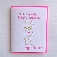 Mother's Day from the dog - Mother's Day Card