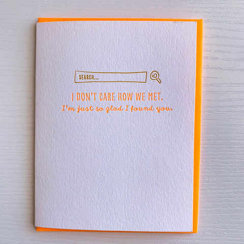 Internet Love Card