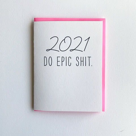 New Year Card - Do Epic Shit