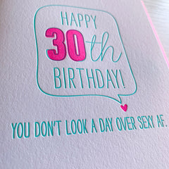 30th Birthday Sexy AF Card