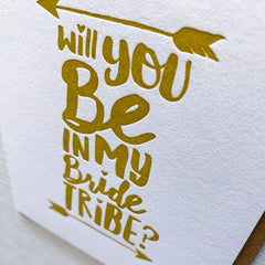Will You Be My Bridesmaid BrideTribe Card