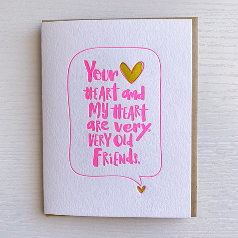 Best Friend Card - Your heart and My heart are very very good friends
