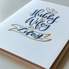Wedding Card - Hubby and Wifey For Lifey