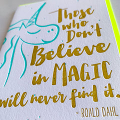 Roald Dahl Quote - Friendship Card