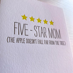 Funny Mother's Day Card - Five Star Mom