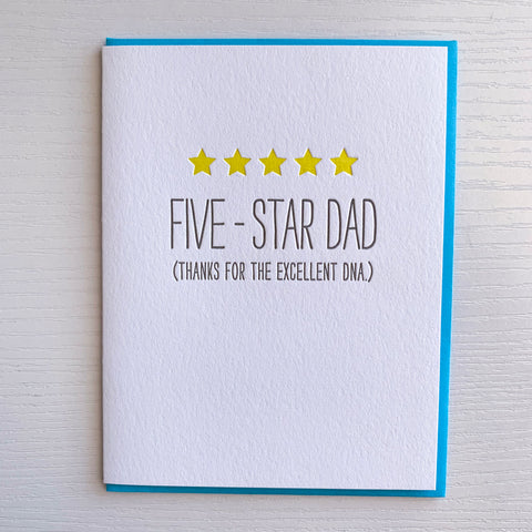 5-Star Dad Funny Father's Day Card