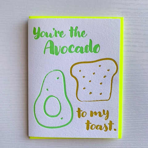 Avocado Toast Love Card or Friendship Card