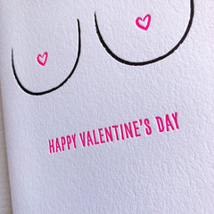 Boobs Valentines Day Card
