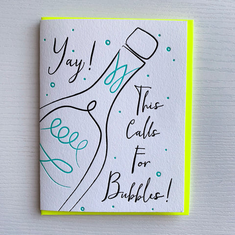 Congratulations Card - This Calls for Bubbles