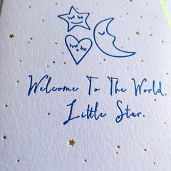 Welcome New Baby Card, Baby Shower Card