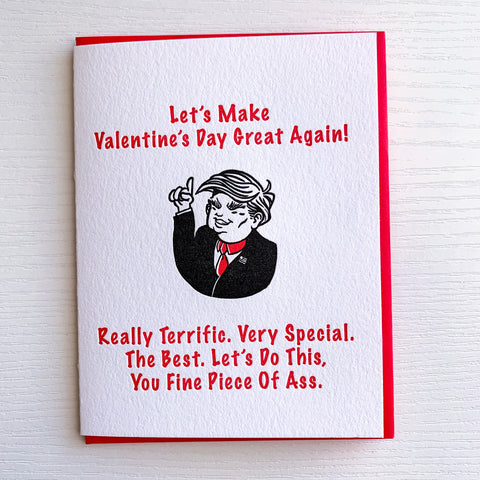 Make Valentine's Day Great Again Card
