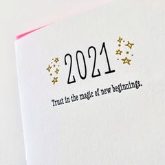 New Years Card -  2021 Trust In The Magic of New Beginnings