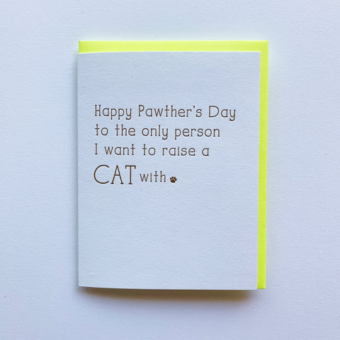 Cat Dad Fathers Day Card