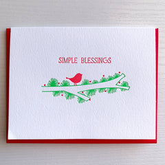 Simple Blessings Holiday Card
