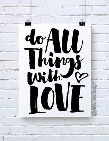 Do All Things With Love Wall Art