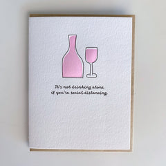Social Distancing Card, Funny Friendship Card