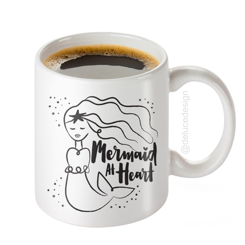 Mermaid At Heart - Coffee Mug