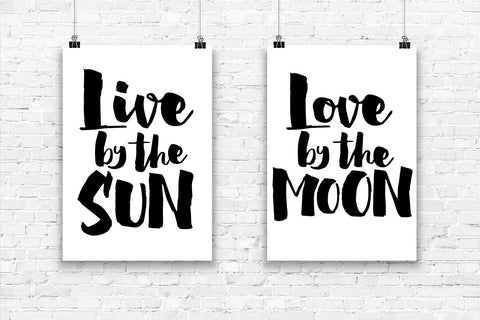 Live by the Sun Love by the Moon - Wall Art Set $36.99 - $64.99