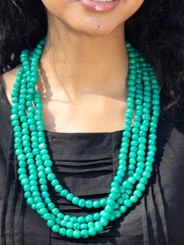 ACAI BEADS NECKLACE - single strand = $22  |  3 strands = $50