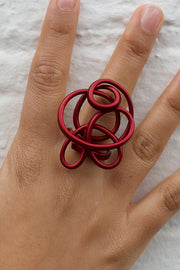 MONICA SCRUFFLE RING small