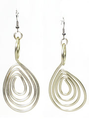 MONICA LONG SPIRAL EARRINGS
