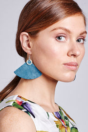 MONICA GIANT FAN EARRINGS