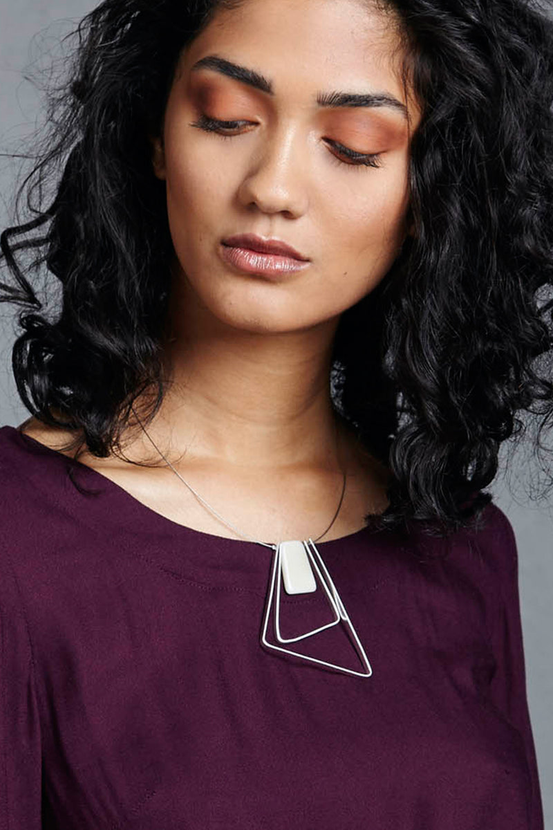 Marcia Two Tri  Necklace