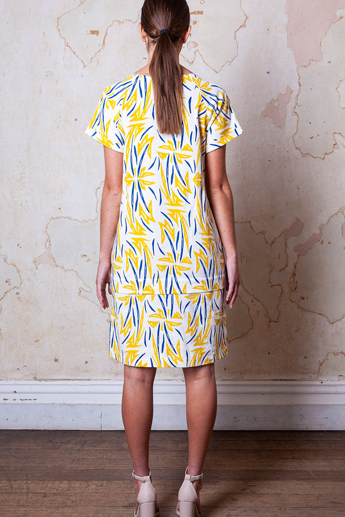 PLURAL RUA AIMORES PRINT DRESS