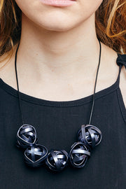 SCRUNCH BALLS thin NECKLACE
