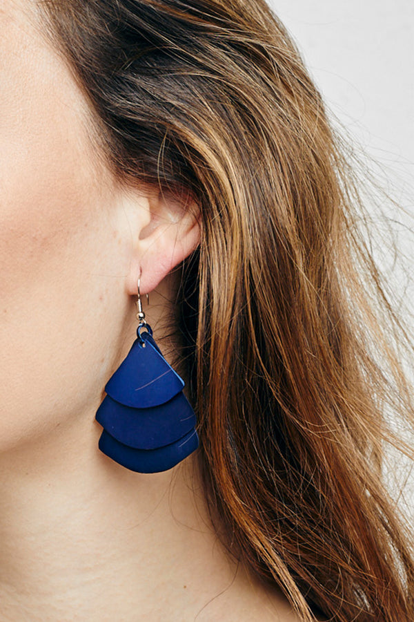 MONICA TRI FAN EARRINGS