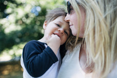 Curate Nest, Custom Design Baby Nursery Rooms, Erin Coren with her son Nolan
