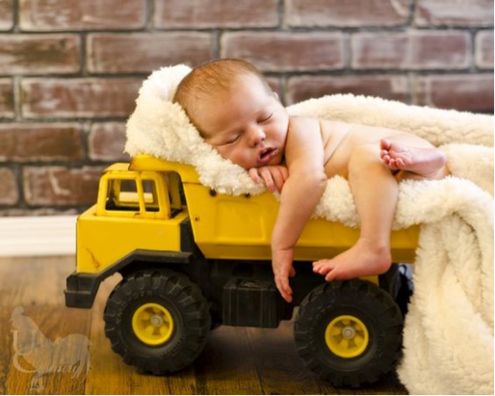 Curate Nest, Custom Design Baby Nursery Rooms, Baby on tractor - a very special delivery