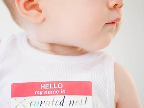 Curated Nest, Custom Design Baby Nursery Rooms, Blog, What's in a Name? Part I: Welcome to the world, me!