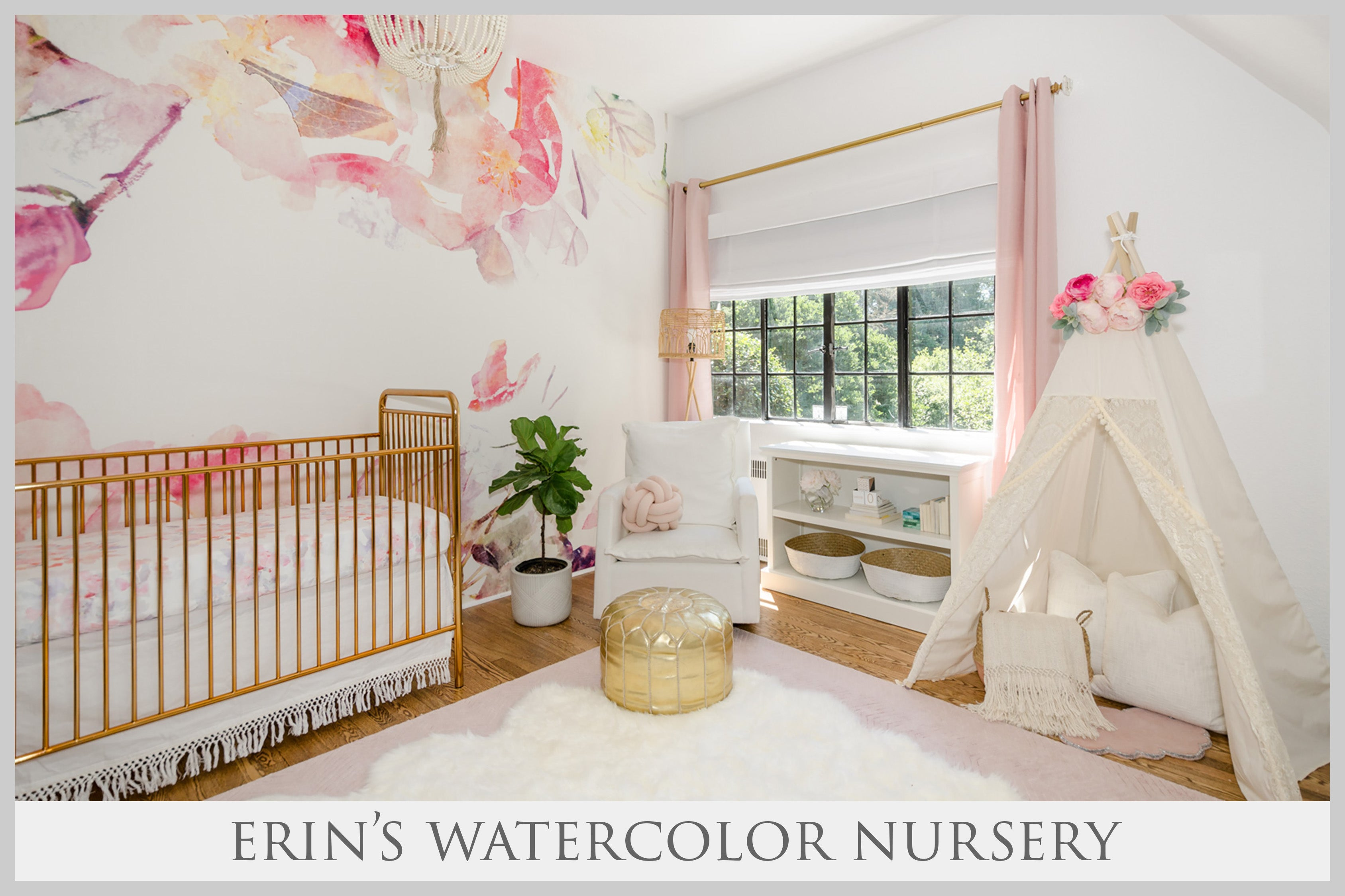 Erin's Watercolor Nursery by curated nest