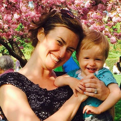 Curate Nest, Custom Design Baby Nursery Rooms, Lina Galvao with her son Jonah