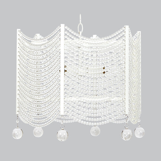 Curated Nest: Nurseries and Design - Crystal Swag Chandelier - White - Lighting