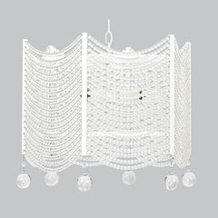 Crystal Swag Chandelier - White